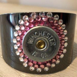 12 Gauge Girl Shotshell Cuff w/ Swarovski Crystals